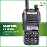 walkie 8w achat en gros de-8W Max Long Range Two Way Radio Scanner Transmettre Police Fire Rescue Double Bande Ham Walkie Talkie UV-82plus