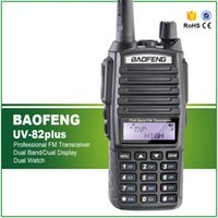 walkie talkie de maior alcance venda por atacado-8W Max Long Range Two Way Radio Scanner Transmitir Polícia Fire Rescue Dual Band Ham Walkie Talkie UV-82plus