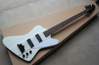 Wholesale Ebony Pick - New + guitar factory + GB Thunderbird 4 strings electric bass in white color electric bass with EMG pick-up