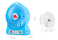 Wholesale Strong Cool Usb - Retail Mini Hand Held USB Fan Portable Rechargeable Pocket Fan Travel Blower Cooler Strong Wind Mute Wind with Battery Colorful High Quality