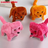 Wholesale Cuter Electric - 2016 New arrival super cuter Electric Short Floss Dog Toys Electric Dog Walking Barking Toy Moving Dog plush toys
