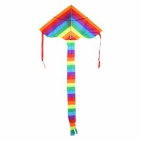 Wholesale Kite Tails - Wholesale- Rainbow Kite Outdoor Long Tail Nylon Toys for Kids Children's Kite Stunt Kite Surf without Control Bar and Line Kites