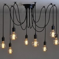 Wholesale Country Offices - Retro Vintage Spider Pendant Lamps Loft Country Pendant Lights Industrial Creative Heavenly Maids Scatter Blossoms Home Lighting
