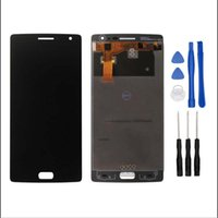 Wholesale Resistive Lcd Touch - Wholesale- Black For OnePlus 2 OnePlus 1+ 2 One A2001 A2003 A2005 LCD Display Touch Screen Digitizer Full Assembly Replacement Accessories