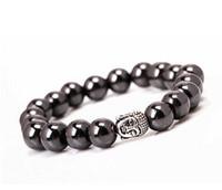 Wholesale Hematite Wrap - Volcanic Black Buddha Hematite Bracelet Matte Agate Round Wrap Bead Men's Jewelry Charm Yoga Bracelets Fit Shamballa Bracelet Necklace-J886