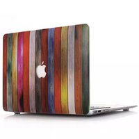 Wholesale Design Macbook - Macbook Laptop Netbook Wood Wooden Design Hard PC Case Cover for 11.6 Air 13.3 15.4 Pro Retina Hollow out shell