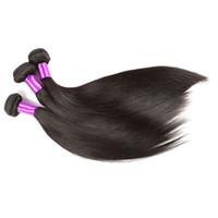 Wholesale Derun Virgin Hair - Grade 7A Brazilian Virgin Hair With Closure Derun hair Brazilian straight With Lace Closure Cheap Brazilian Hair straight Free shipping in