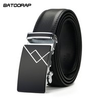 Wholesale Wholesale Men S Designer Belts - Wholesale-[BATOORAP]High quality Automatic buckle belt Real Leather Belt Men Luxury Fashion Brand Designer Belts Men Black Luxury Belt