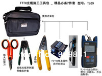 Wholesale Fc Adapters - FTTH Assembly Optical Fiber Termination Tool Kit With FC-6S Fiber Cleaver And -50~+26 Optical Power Meter