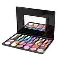Wholesale Cosmetic Chocolate Mirror - Fashion 78 Colors Pro Eyeshadow Palette Makeup Powder Cosmetic Brush Kit Box With Mirror Women Make Up Tools Eye Shadow