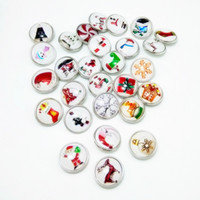 Wholesale Glove Snaps Wholesale - 18mm newest fashion mix color Christmas love gloves gifts Charms Resin Ginger Snap Button Jewelry Fit Armband Bracelets