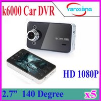 Wholesale Pc Dvr Card Hd - 5 PCS 2.7'' LCD K6000 Car Camera Car DVR Full HD 1080P Vehicle Camera LED Night Vision Video Recorder Car camera recorder ZY-DV-03