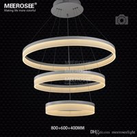 Anneau LED moderne Light Arcylic Cercle contemporain pendentif LED Suspension luminaire MD5060 LED SMD5050