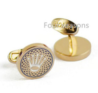 Wholesale Dress Shirts Cufflinks - Best-selling cufflinks classic form men premium brand cufflinks dress shirt deserve to act the role of gold and silver