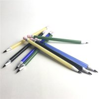 Wholesale Yellow Wax - New 6 Inch Glass Dabber Tools Pencil Vaporizer Pen Oil Wax Dab Tool with Yellow Green Black Blue Colorful Glass Dabbers Tools