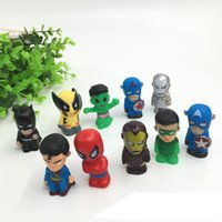The Avengers 10Styles Mini Actionfiguren Captain America Superheld Spiderman Batman Hulk 4cm Vinyl Abbildung I Lot von 10 Stilen