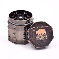 Wholesale cali crusher for sale - Group buy Cali Crusher Grinder for smoking Aircraft Aluminum Herb Grinders Layers Provide Best Touch And Texture VS Lighting Grinder