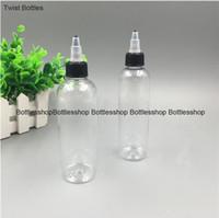 Wholesale Nose Cap For Bottles - New Style transparent sharp-nose bottle 15ml 30ml 60ml 100ml 120ml plastic PET e liquid bottle with black twist cap for E-liquid