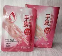 Wholesale Hand Peeling - New Rolanjona Milk Bamboo Vinegar hand Mask Peeling Exfoliating Dead Skin Remove Professional hand sox Mask hand Care