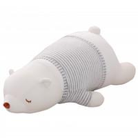 Wholesale Polar Stuff - 45-75CM Large Size White Bear Plush Toys Stuffed Nanoparticle Toys Lying On Front Big Polar Pear Cloth Doll Children Gift