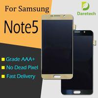 dokunmatik ekran notu toptan satış-Samsung Galaxy Not 5 için yüksek Kalite Orijinal LCD Ekran Ekran N9200 N920G Dokunmatik Ekran Digitizer Meclisi Yedek Parçalar Ücretsiz Gemi