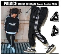 Wholesale Triangle Skateboard - Palace Skateboards Sport Pants Hip Hop High Quality Fashion Triangle Palacio Autumn Sweatpants