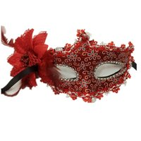 Wholesale sexy night party bar online - Flower Halloween MaskS Sexy Masquerade Masks Dance Party Bar Princess Venice Mask Night Club Rose Party Mask Supplies