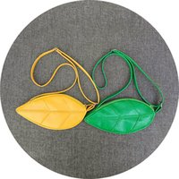 Wholesale coin purse gifts for sale - PU Purse Single Leaf Shape Zipper Single Shoulder Bag Coin Storage Wallet For Girl Gift Portable xmc C R