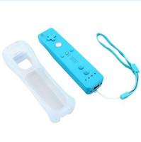 controller nunchuk großhandel-Wireless Remote Controller Nunchuck Nunchuk Spiel Controller Joystick für Wii Silikonhülle Skin Protective Sleeve