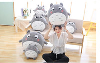Wholesale Totoro Black Soft Toy - Plush Toy Soft Stuffed Pillow  Cushion Cartoon White Totoro Doll   KiKis Delivery Service Black Cat Kids Toys