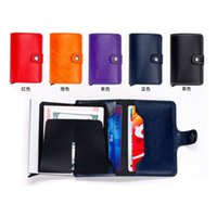 Wholesale friendly cards case - Mini Wallet with Automatic Slide Card Holder Credit Card Case Organizer Card Storage Bag Protector Men Wallets ZA4913