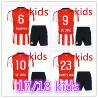 Wholesale Teen S - best quality 2017 2018 PSV Eindhoven Kids jerseys H.LOZANO V.GINKEL PEREIRO RAMSELAAR 17 18 child teens soccer Jersey set