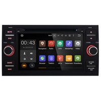 Wholesale Gps Mondeo Android - Joyous Double Din 7 inch Quad Core Car DVD Player For Ford Focus Mondeo Galaxy Android 5.1 GPS Navigation Radio AUX Multimedia System Audio