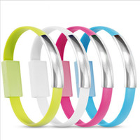 Wholesale Mix Color Bracelet - Portable Magnetic Suction Creative Wristband Bracelet Charger Cable Micro USB Data Sync Cord High Speed 22CM for Samsung S7 HTC Blackberry