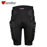 Wholesale Knee Padded Sports Pants - Breathable Motocross Knee Protector Motorcycle Armor Shorts Skating Extreme Sport Protective Gear Hip Pad Pants