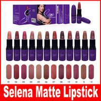 Wholesale Size New - HOT NEW Selena Collection MATTE LIPSTICK Fashion Makeup Waterproof Beautiful Cosmetics 12 Color Free Shipping 12Pcs