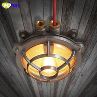 Wholesale Gas Stove Switch - FUMAT Gas Stove Shape Ceiling Lights American Industrial Vintage Ceiling Lamps for Restaurant Waterproof Iron Bathroom Lamp