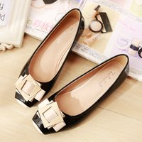 Frau Schuhe Metall Blume Loafers Ballett Ebenen Schuhe Casual Slip auf Slides Patchwork Square Toe Shallow Sandalen Red Blue Apricot Pink