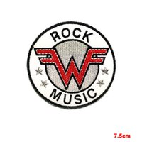 Wholesale Pop New Music - new WEEZER SEW, IRON ON PATCH EMBROIDERED Indie Rock Music Power pop Punk Emo