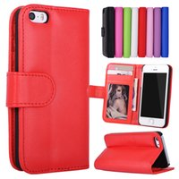 Wholesale Leather 4s Phone - For iPhone 5S 4S SE 5 4 Stand Design Wallet Style Photo Frame Leather Case Phone Bag Cover With Card Holder For iphone5