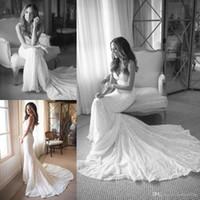 Wholesale Bohemian Graceful Dress - Graceful 2017 New Lace Mermaid Wedding Dresses Spaghetti Straps Custom Made Formal Bohemian Backless Bridal Gowns Court Train Fashion