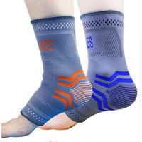 Wholesale Elastic Foot Brace - AOLIKES pcs  Pair Nylon Elastic Ankle Braces Support Foot Sprain Ankle Joint Protector Sports Safety Tobilleras Deportivas M L