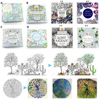 Wholesale Newest Children Books - Newest Secret garden adult English decompression hand-painted color in coloring book Enchanted forest children Coloring Books 1677