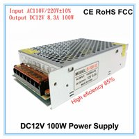 Wholesale Protection Transformer - DC12V 100W LED Driver Power Supply 8.3A 12V Output LED Transformer Over Voltage Protection AC110V-220V Input