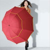 şemsiye büyük toptan satış-Katlanır Şemsiye Büyük Açık Şemsiye 130 cm Büyük Şemsiye Rüzgar Geçirmez Paraguas Kadın Erkek 3 Floding Güneş Yağmur Şemsiye