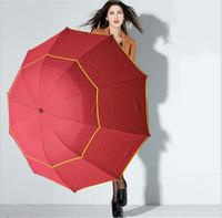 große regenschirme großhandel-Taschenschirme Große Außenschirme 130cm Großer Regenschirm Winddicht Paraguas Damen Herren 3 Floding Sun Rain Umbrellas