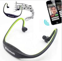 drahtlose kopfhörer für iphone großhandel-Bluetooth Kopfhörer S9 Wireless Stereo Headset Sport Neckband Kopfhörer mit Kleinpaket für iPhone 6 6 s 6 s plus Samsung s6 Rand