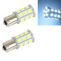 Wholesale Car Led Side Marker Light - 10Pcs LED Car Light Bulb 1156 Ba15s 27Smd 5050 12V White LED Bulb Turn Signal Parking Side Marker Tail Light Universal LED Lamp
