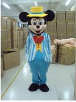 Wholesale Mouse Mascot Outfits - 2015Mouse Couple mascot costume Adult Size Mickey Mouse And Minnie Mascot Costumes Halloween Outfit Fancy Dress Suit