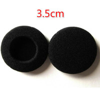 Wholesale Soft Sponge Foam Ear - Free Ship 1000pcs 500pairs 3.5CM Soft Foam Earbud Headphone Headset Ear Pads Replacement Sponge Covers Tips For Earphone MP3 MP4 H00